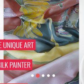 Art on natural silk Design Studio